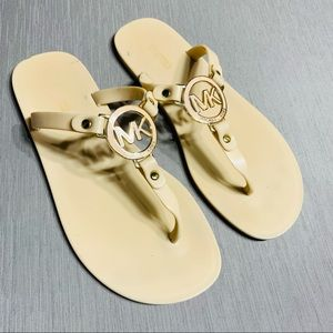 Michael Kors nude jelly sandals